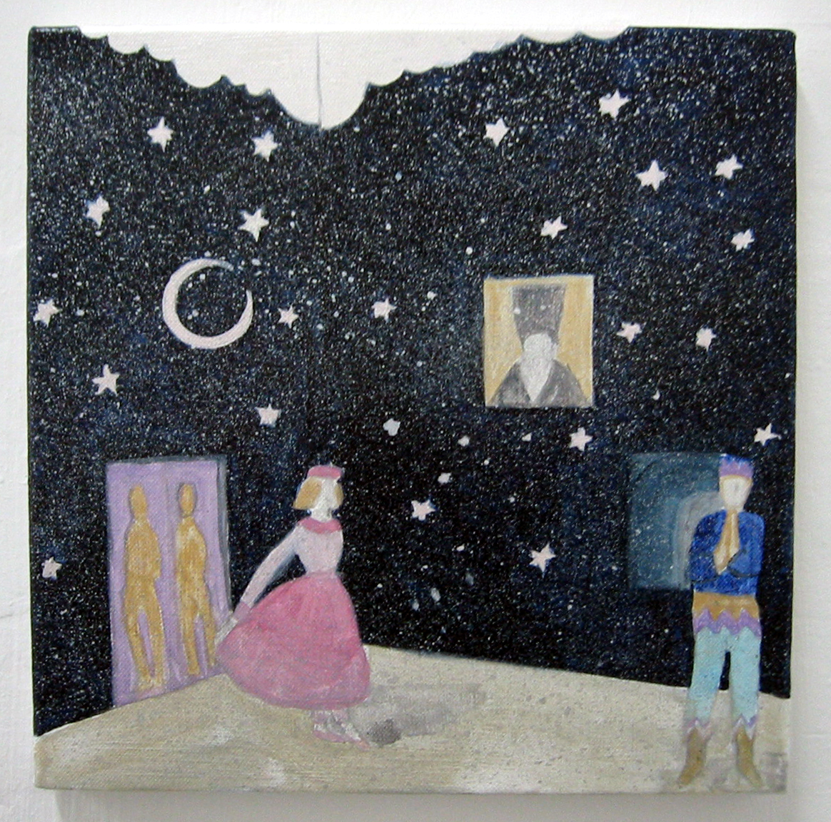 otto-knapp, room with moon and stars